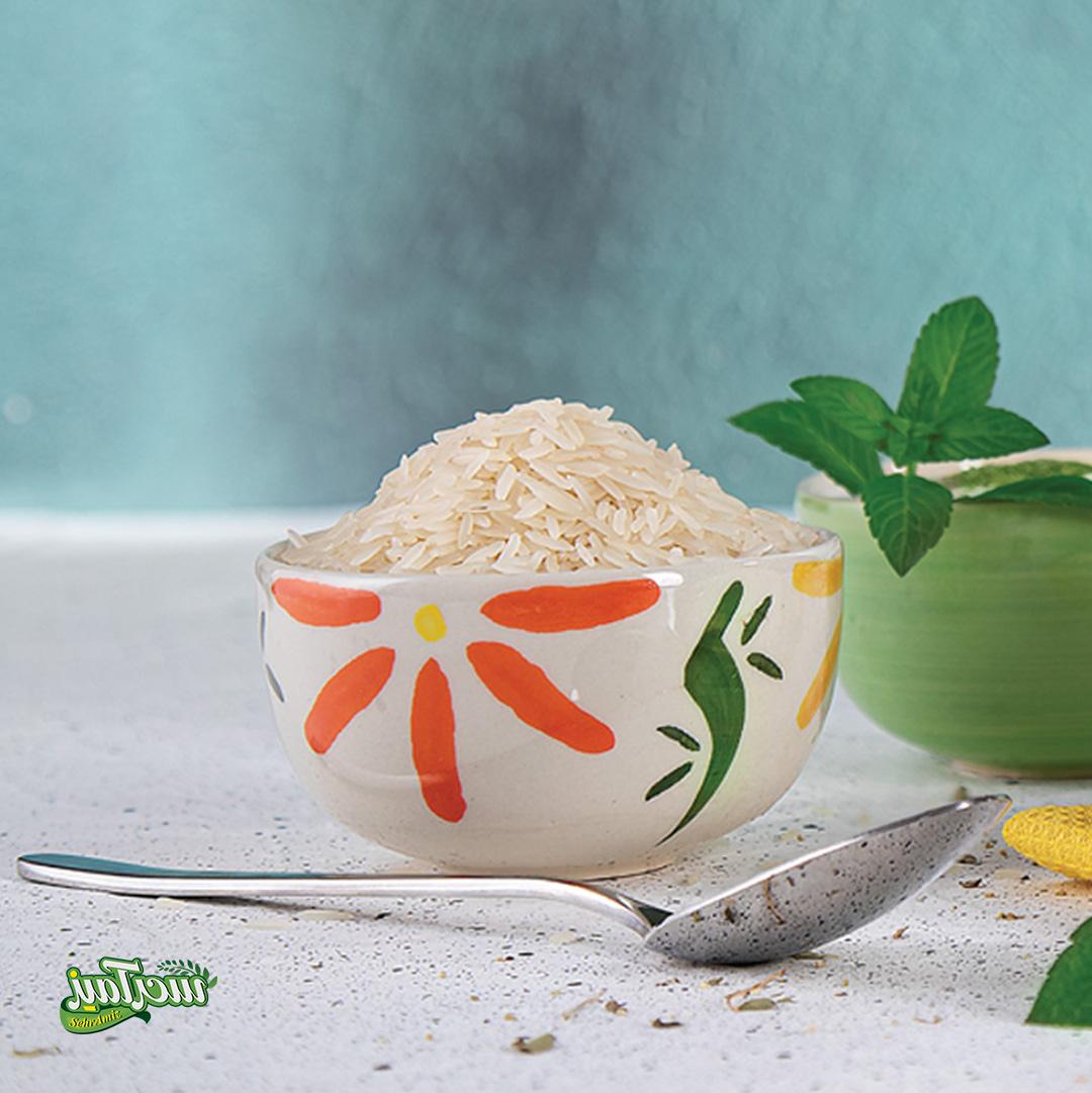 عکس تبلیغاتی برنج ماه رخ