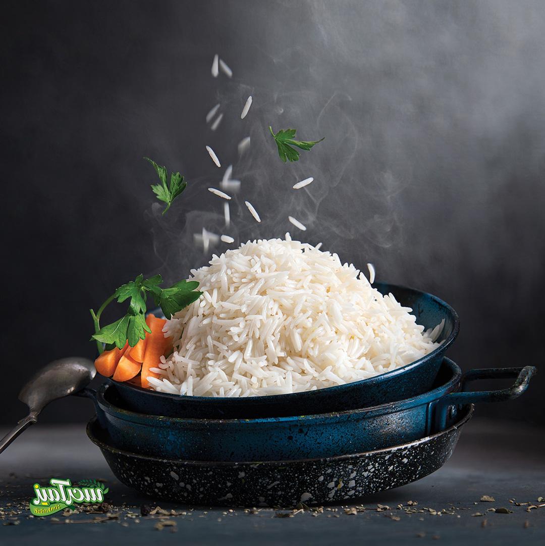 عکس تبلیغاتی برنج ایمان